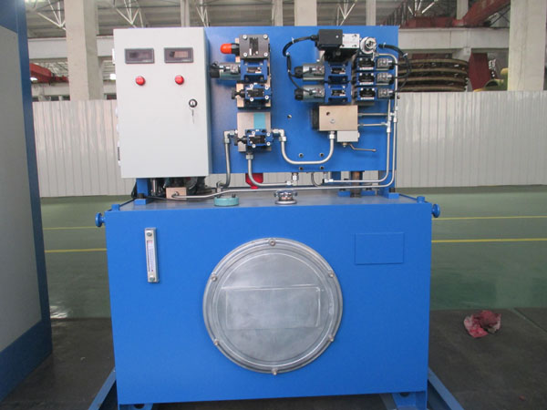 Constant deceleration hydraulic station